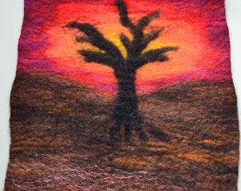 Felted Picture - Desert Sunset