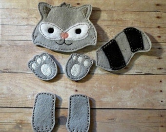 Raccoon feltie oversized feltie for hairbow making
