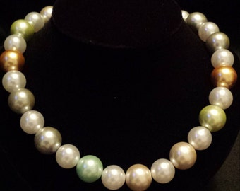 Sale! Mixed Color Pearl Necklace (S11)