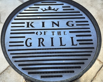 """Custom Made BBQ Grill Grate 21 1/2"""" dia. (This is an example; tell us what you want on your grill grate)"""