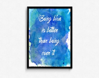 Being Blue (Panic! At the Disco) Print