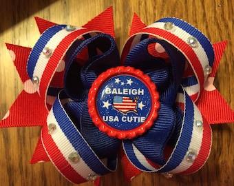 USA Cutie Hair Bow