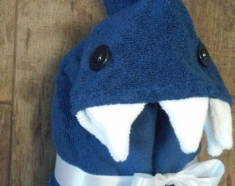 Shark Hooded Towel - Embroidering option