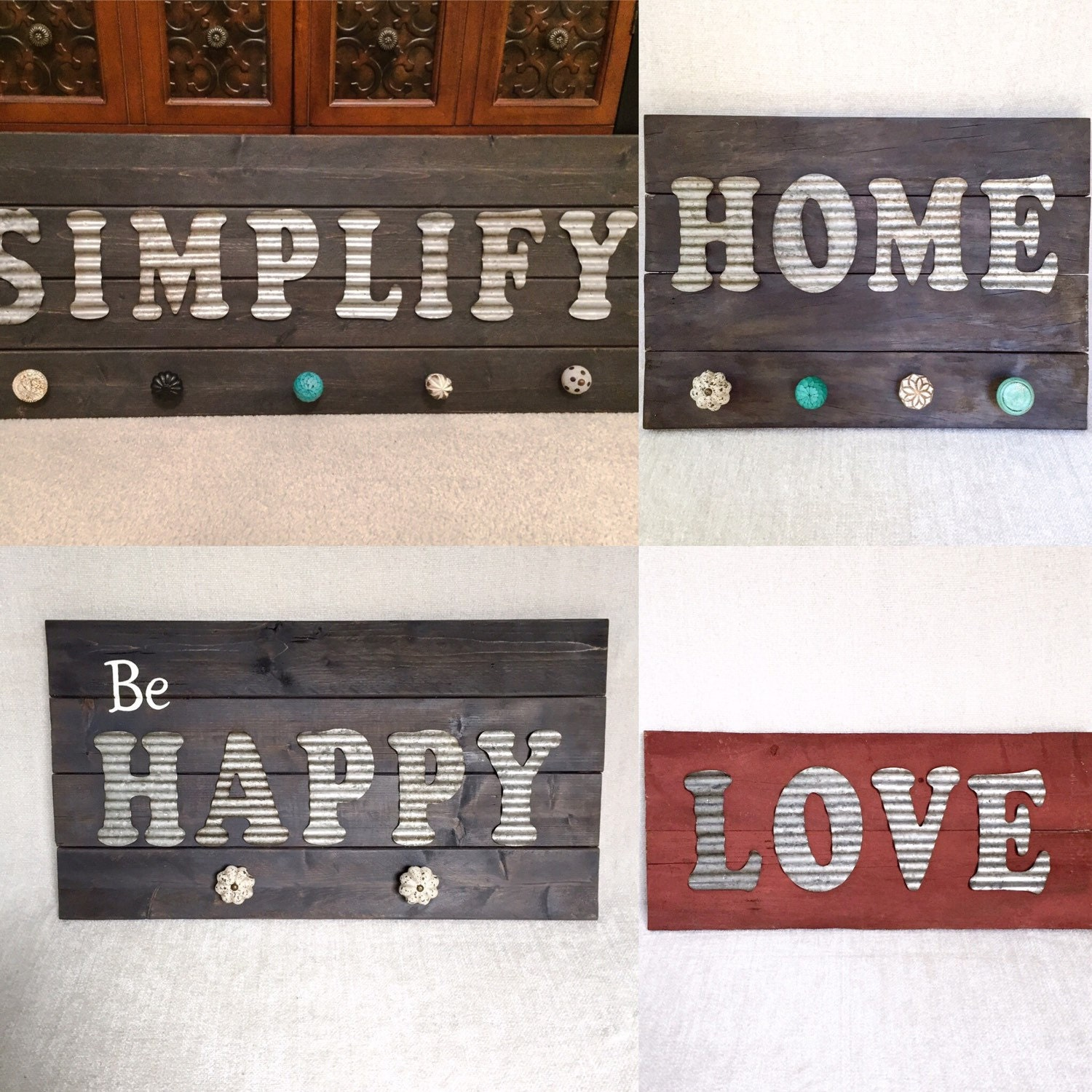 Custom wall art decor signs metal letters wall by
