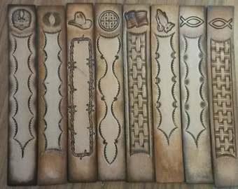 Stamped Leather Bookmarks