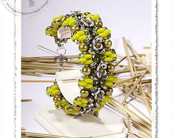 Brona  beaded bracelet PDF pattern