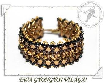 Kimena beaded bracelet PDF pattern