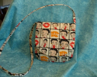 CLEARANCE:  20 PERCENT  DISCOUNT -- Novelty Betty Boop Cross-the-Body Bag