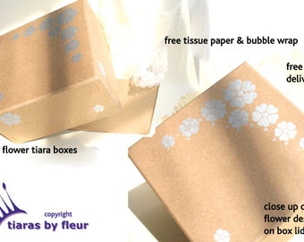 Tiara boxes for storage and shipping. SALE: 3.50, was 6.50