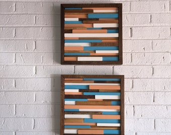 Wood Wall Art - Reclaimed Wood Art - Modern Abstract Wall Art