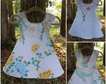 Limited Series Pinafore in Vintage Fabric