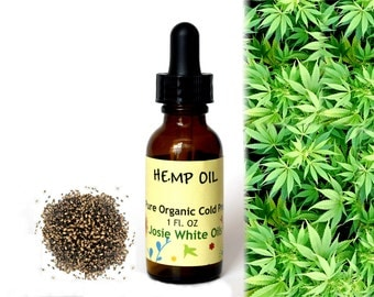 Organic unrefined Cold Pressed Hemp Oil