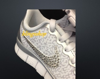 ONLY Swoosh Custom Bling For Nike Shoes 5.0 V4 and Nike Air Thea With Swarovski Crystals-SHOES Not Included