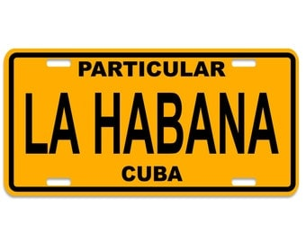 La Habana - Cuba Decorative License Plates - Chapa Cuba