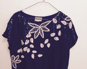 Sale: Glam 1980's Sequined Top! Dynasty!!