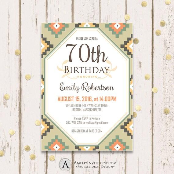 Items Similar To Adult Birthday Invitation Template Th Birthday - Birthday invitation templates adults