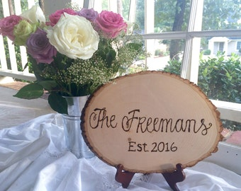 Wooden Personalized Wedding Sign