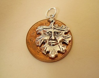 Sterling Silver Green Man Charm Charms