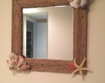 10x10 Seashell Mirror
