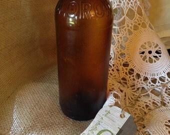 Fabulous 1930's Amber Clorox Bottle