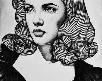 Gene Tierney High Quality Print