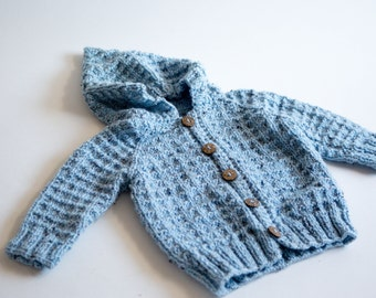 Knitted Sweater with hoodie