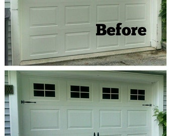 Faux (FAKE) Garage Door Windows - Custom Carriage House Window Decals