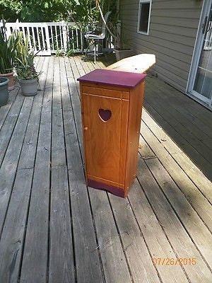 Vintage Wooden Heart Hide A Way Fold, Vintage Ironing Board Cabinet