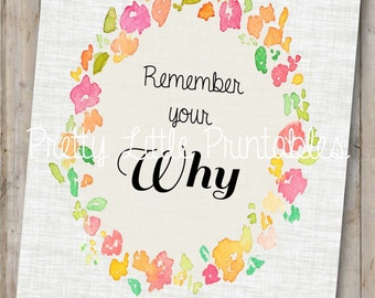 Remember Your Why Printable