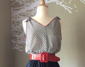 Vintage 1980's Striped Sundress