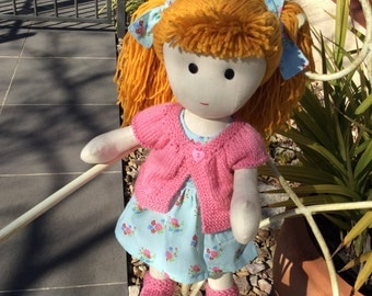Harriet Doll - Handmade Doll - Fabric Doll - Rag Doll