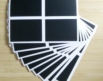 36 Blackboard Chalkboard Chalk Board Labels Stickers Wedding Kitchen Jars Rectangle (FREE SHIPPING!!!)
