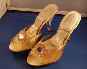 Vintage 1950's High Heel Shoes Fashioned by Jocelli.