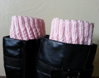 Hand-knit boot cuffs