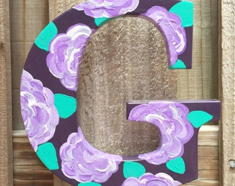 Custom wood door letters