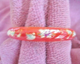 Red Enamel Bangle Bracelet