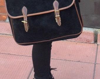 Vintage Roots Suede Messenger Bag