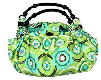 Reversible Patterned Hobo Tote Bag