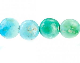 Sleeping Beauty Turquoise Beads Plain Coins