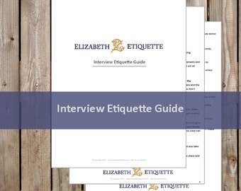 Interview Etiquette Guide - Printable PDF (INSTANT DOWNLOAD - 2 Pages)
