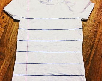 Notebook Paper Shirt - Short Sleeve
