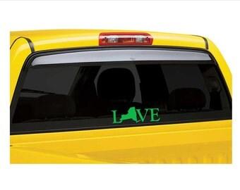 vinyl decal love NY New York car decal love maryland vinyl sticker state