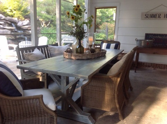 Anthropologie Inspired Farmhouse Kitchen Or Dinning Room Table.