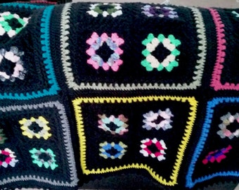 Four patch Granny Square Afghan
