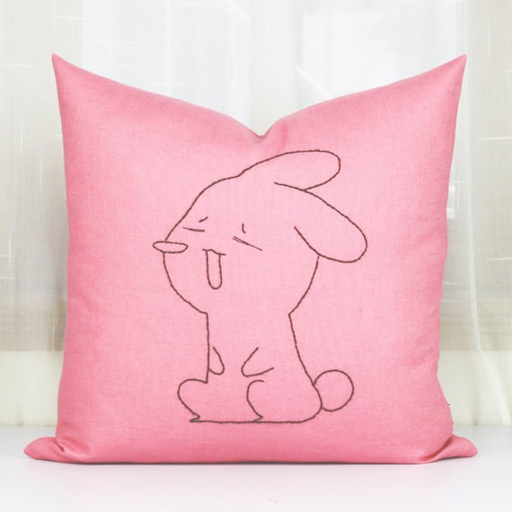Cute baby rabbiteaster bunny cushion coversLove by PerfectHM