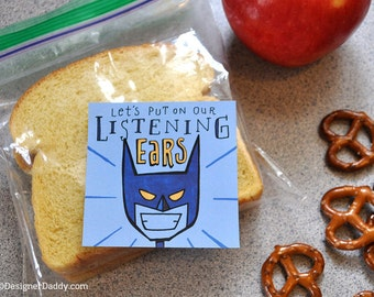 Superhero Lunch Notes instant download Vol. 1: Back to