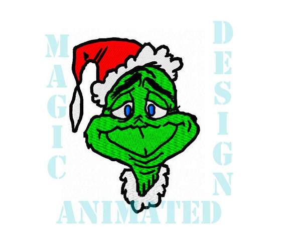 Grinch Machine Embroidery Design in 2 sizes ---Instant download---
