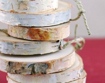 Birch Slices, 3 Inch , Birch Ornaments, Craft Supplies, Rustic Christmas