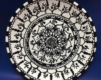 Black and White Henna Pottery