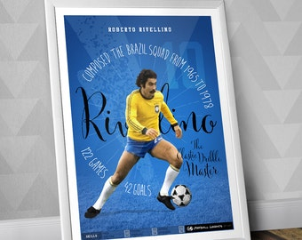 Rivellino - Brazilian National Team Print